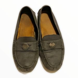 Coach Nicola Leather Driving Loafer Shoes Size 7.5